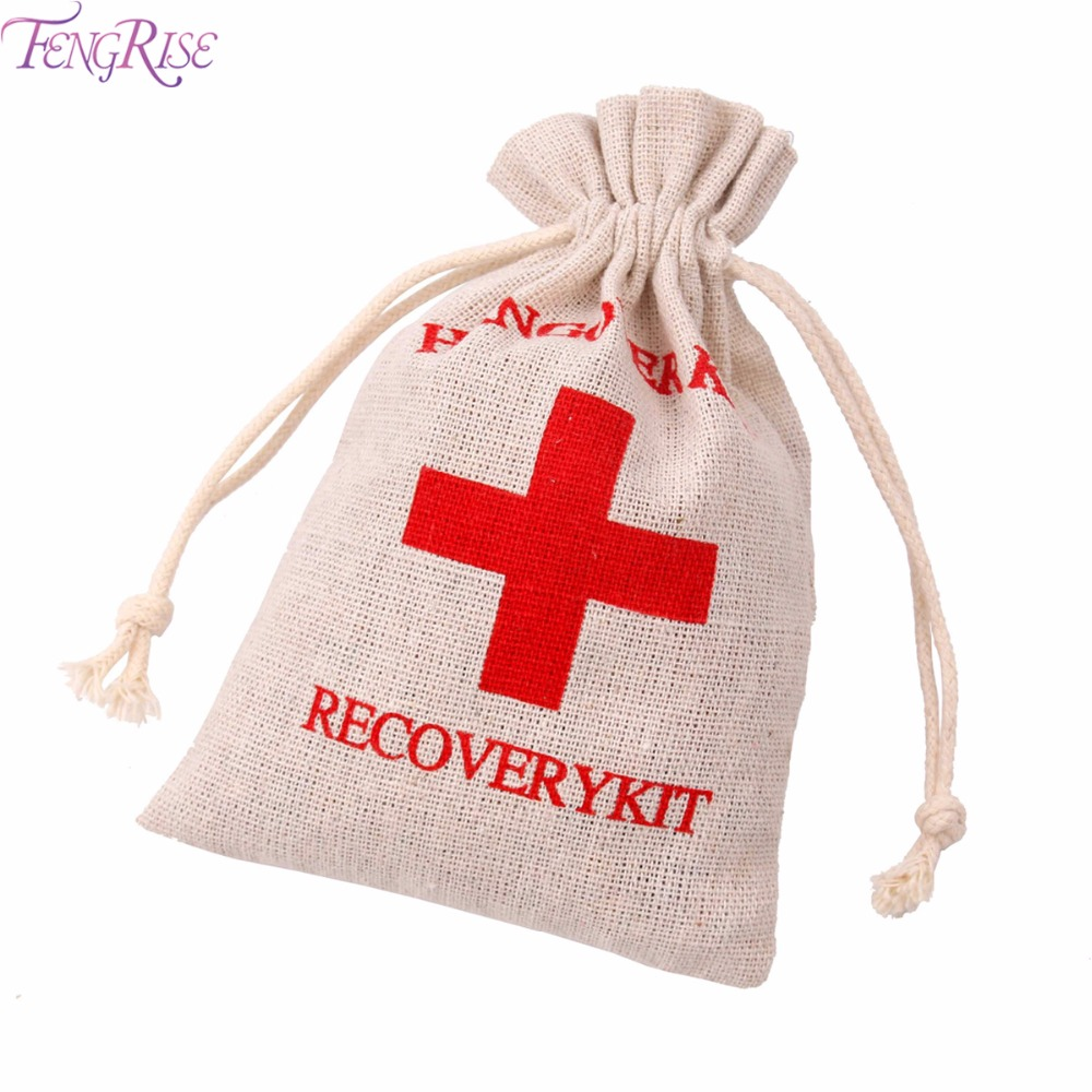 FENGRISE 10 pcs Hangover Kit Bags Wedding Favors And Gifts For Guests I Regret Nothing Bags Gifts Bachelorette Party Supplies