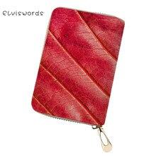 ELVISWORDS Leaves Pattern Card & Id Holders Women Wallet Case Covers for Passports Female Business Travel Document Pochette