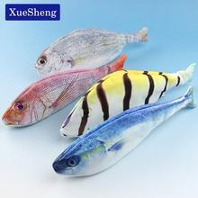 1PC Creative Fish Shape Pencil Case Kawaii Korea Style Cloth Pencils Bags School Supplies Stationery Hot Pen Box