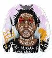 EE. UU. Tamaño Real Por Encargo Kendrick Lamar Compton Leyenda 3D Sublimación de impresión Cuello Redondo Sudaderas tallas grandes
