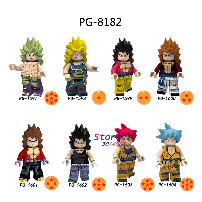50pcs Building Blocks Dragon Ball Z Cartoon Series Broli Vegeta Son Goku Burdock models bricks for