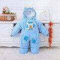 El otoño y el Invierno Ropa de Bebé Ropa de Bebé Traje Para La Nieve de Una Pieza Infantil Mamelucos del Bebé de Lana de Algodón acolchado Bebé Guardapolvos 2-12 M