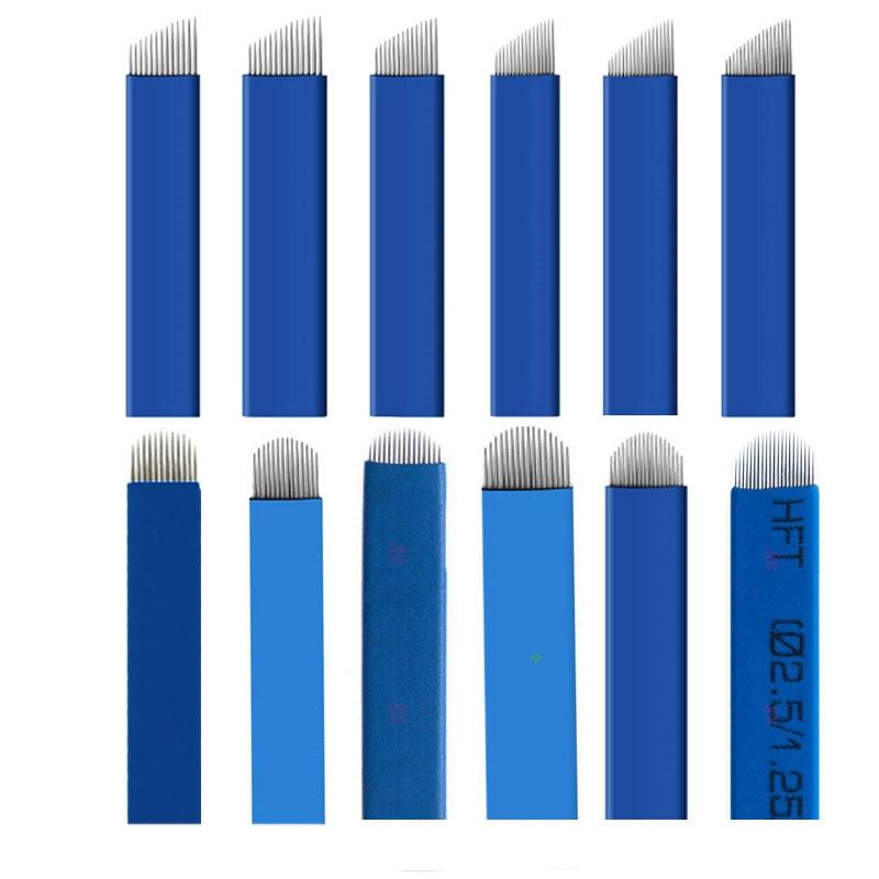 Blue 500pcs Flex 7 9 11 12 13 14 15U 12U 16U 18U Permanent Makeup Needle