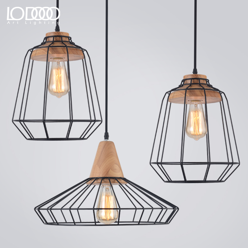 Restaurant Loft Pendant Light LED Edison Bulb Vintage Loft Hanging Lamp for Home Hotel Living and Dining Room Bedroom Decoration