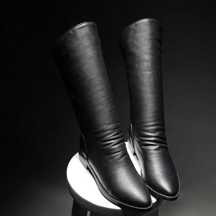 2016 Winter Stiefel Botas Mujer Verkauf Große Größe 34-47 Neue Runde Kappe Schnalle Stiefel Für Frauen Casual Fashion Warm Winter Schuhe 778