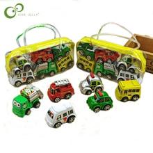 6 шт./компл. классический мальчик девочка грузовик детская игрушка мини маленький потяните игрушки на солнечных батареях пластик красочный автомобиль игрушка WYQ