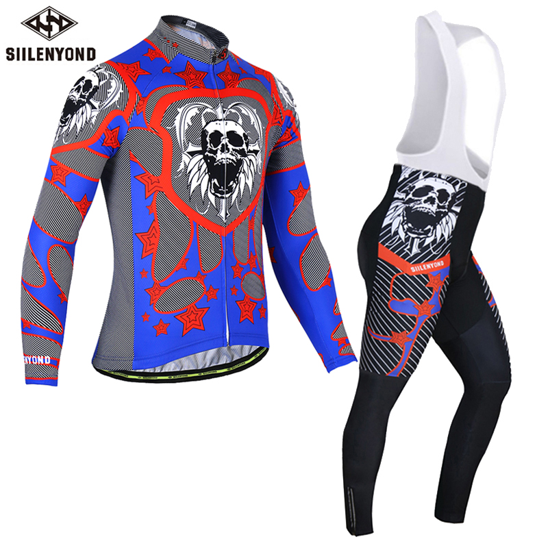 Siilenyond Cycling Jersey Set Warm Long Sleeve Ropa Ciclismo Invierno Bicycle Sportswear Winter Thermal Fleece Bike Clothing malciklo winter fleece thermal cycling jersey set long sleeve bicycle bike clothing pantalones ropa ciclismo invierno wears