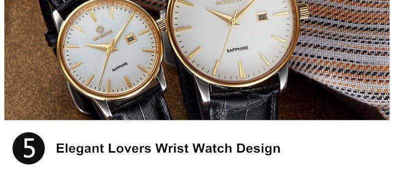 marca de luxo famoso relógio de quartzo