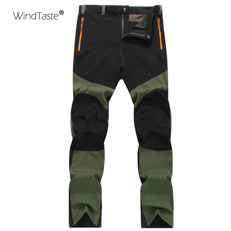 WindTaste Men's Summer Breathable Hiking Pants Outdoor Sports Climbing Trekking Camping Quick Dry Waterproof Male Trousers KA027