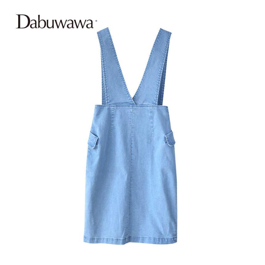 55873a0cd4 ... Dabuwawa Primavera Azul faldas de moda elegante Falda larga falda  acampanada falda lápiz de cintura alta ...