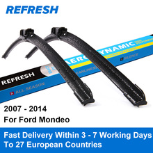 "REFRESH Wiper Blades for Ford Mondeo Mk4 26""&19"" Fit Push Button Arms 2007 2008 2009 2010 2011 2012 2013 2014"