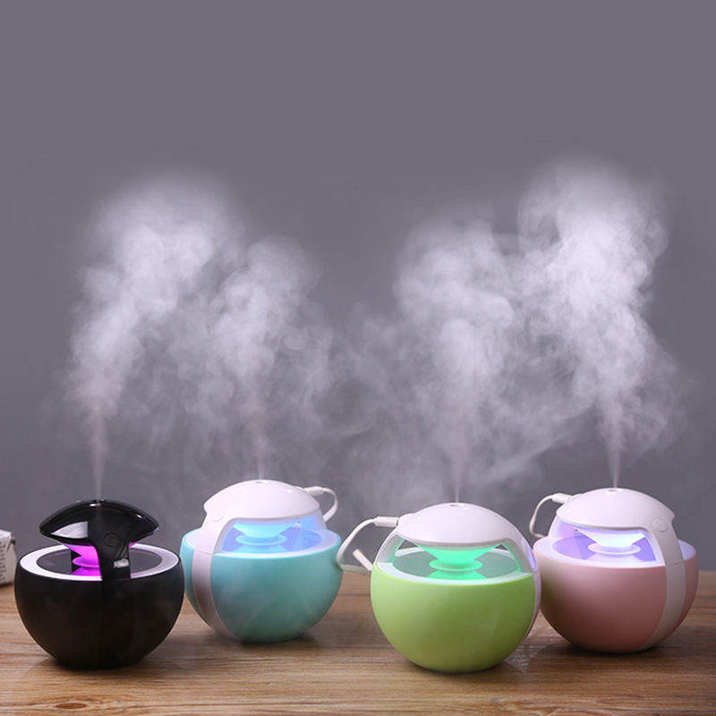 450ML Large Capacity Ultrasonic Humidifier Air Purifier with Colorful LED Night Light USB Mini Air Humidifier Aroma Mist Maker portable mini air humidifier purifier night light with usb for home office decorations