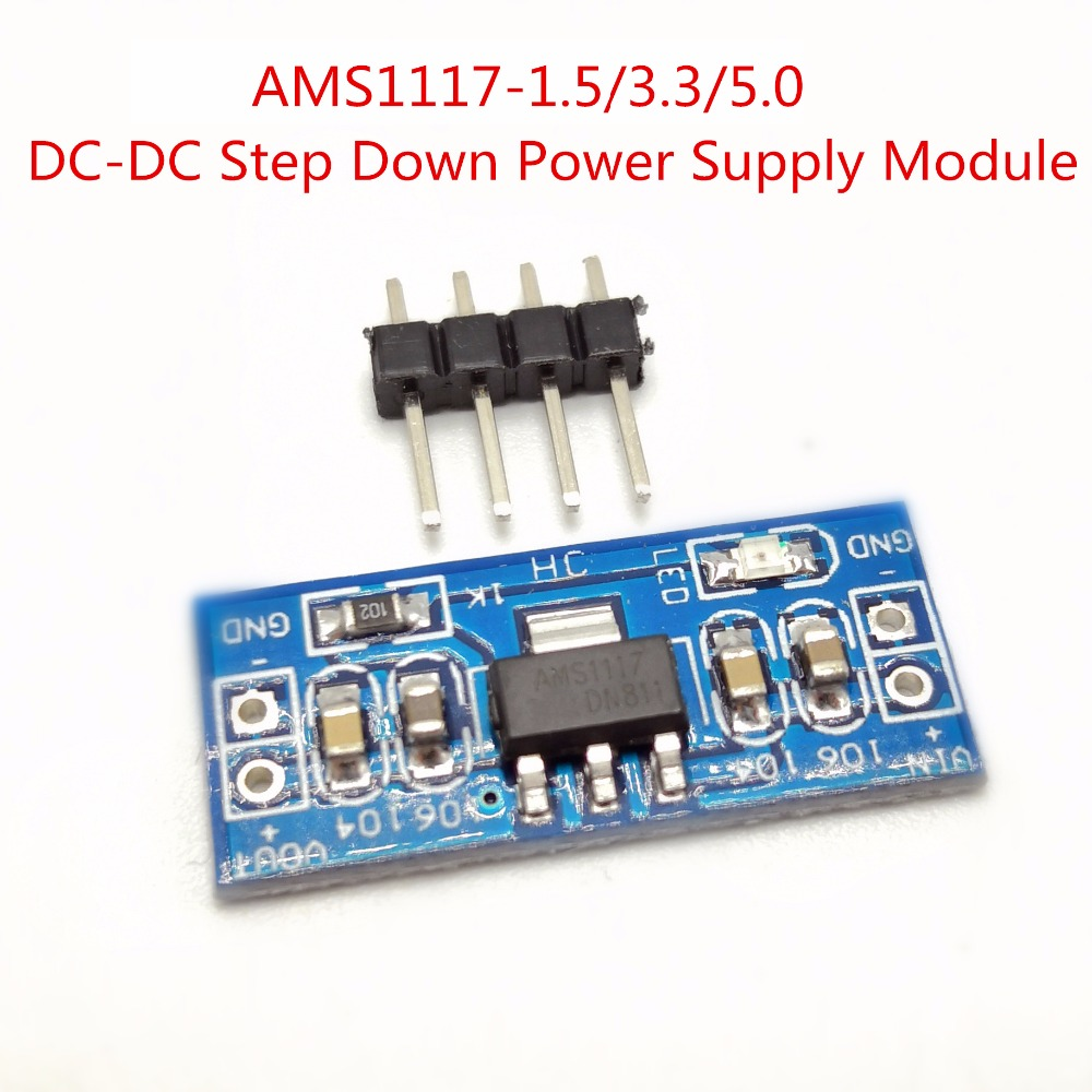 1~10pcs LM1117 AMS1117 4.5-7V Turn 3.3V 5.0V 1.5V DC-DC Step Down Power Supply Module For Arduino Bluetooth Raspberry Pi