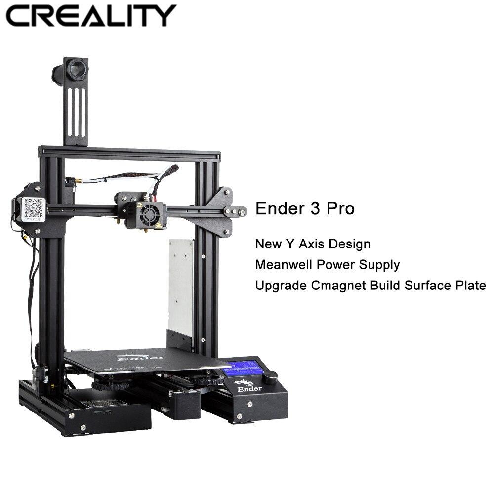 Offre Spéciale Créalité 3D Imprimante Ender-3 Pro Full Metal Cadre 3D Imprimante DIY Magique Cmagnet Construire Surface 220*220 * 250mm Avec 1 kg PLA