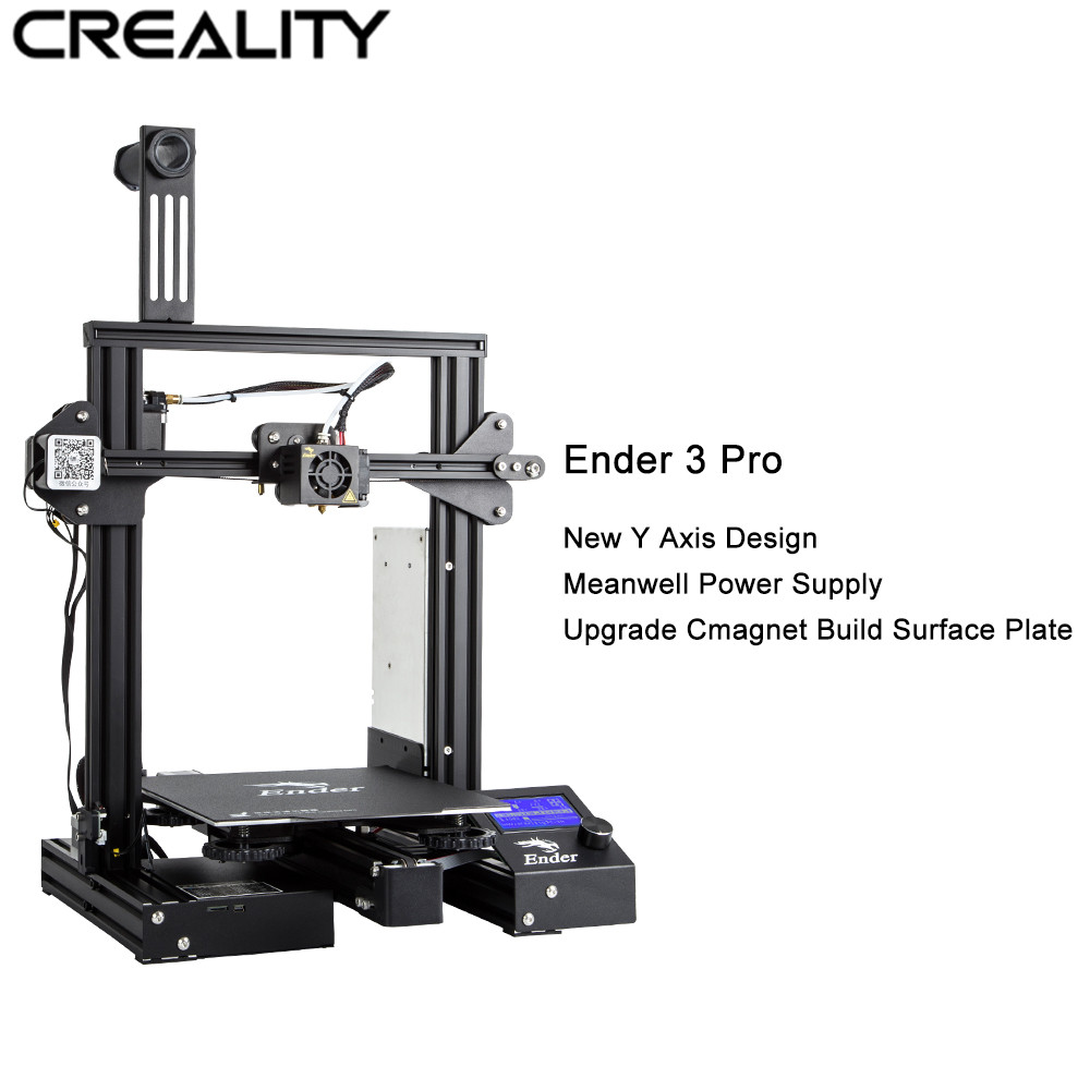 Vendita calda Creality 3D Stampante Ender-3 Pro Full Frame In Metallo 3D Stampante FAI DA TE Magia Cmagnet Costruire Superficie di 220*220 * 250mm Con 1 kg PLA