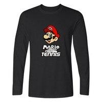 Hot Sale Super Mario Run T Shirt Men Harajuku Long Sleeve Game Super Mario T Shirt