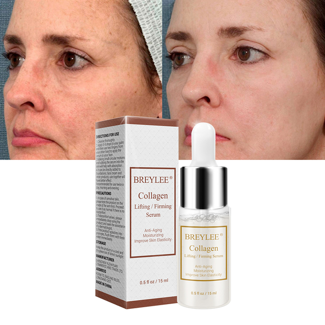 BREYLEE Collagen Lifting Firming Serum Hyaluronic Acid Moisturizing Essence Anti Aging Remove Wrinkles Face Cream Skin