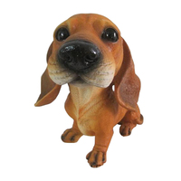 Dachshund Puppy Dog Statue, Resin Crafted Statue Puppy Dog Resin Figurine Big Head Shook Head Dog Statue, Multicolored