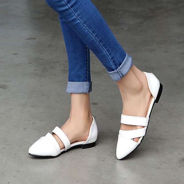 Women Flat Sandals Fashion Ladies Pointed Toe Flats Womens High Quality Mother Shoes Leisure Shoes Sandalias Size 34-39 PA00695