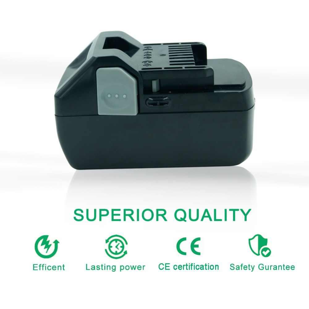 Новый 18 В 4000 мАч литий-ионный Перезаряжаемые Мощность инструмент Батарея для Hitachi BSL1830 BSL1840 DS18DSAL 330139 330557