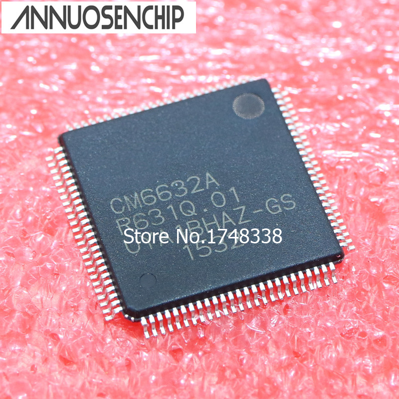 FREE SHIPPING 1PCS CM6632A CM6632 QFP100 NEW ORIGINAL 5pcs stm32f105vct6 qfp100 stm32f105 qfp arm new and original ic free shipping