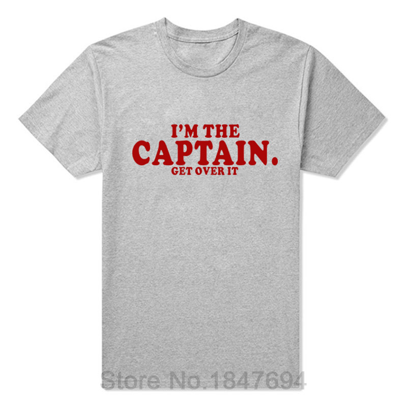 IM THE CAPTAIN FUNNY PRINTED MENS T-SHIRT Boating Yachting Boat Gift TOP MENS CASUAL PRINTED T SHIRT