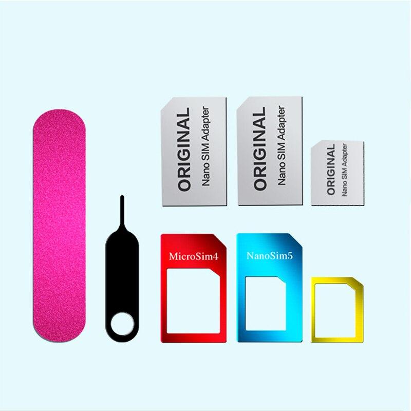 5 in 1 Card Adapters For xiaomi redmi note 4 Global version/ Note 4X Nano Micro Standard Sim Card Adapter abrasive Bar Card Pin