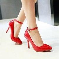 Alionashoo Plus Size 47 48 2018 Fashion High Heels Newest Women Pumps Spring Women Shoes Thin Heel Pumps Comfortable Shoes Woman