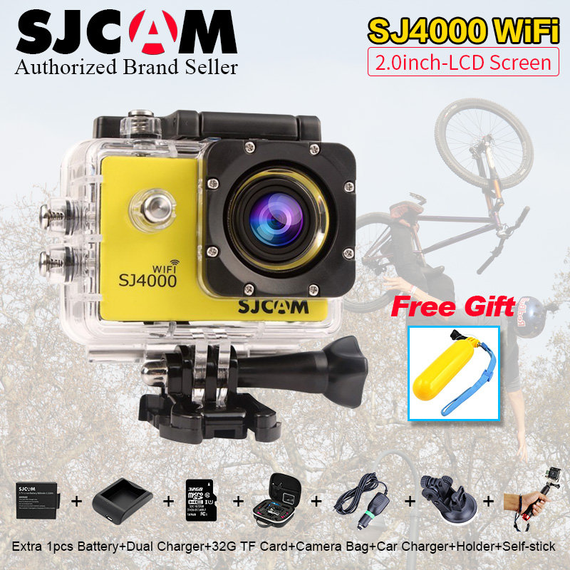 Original sjcam sj4000 wifi acción cámara impermeable de buceo 30 m 1080 p comple