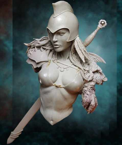 1/10 Scale Resin Bust Roman Female Warrior Sexy Unpainted Figure Model Kit Free Shipping