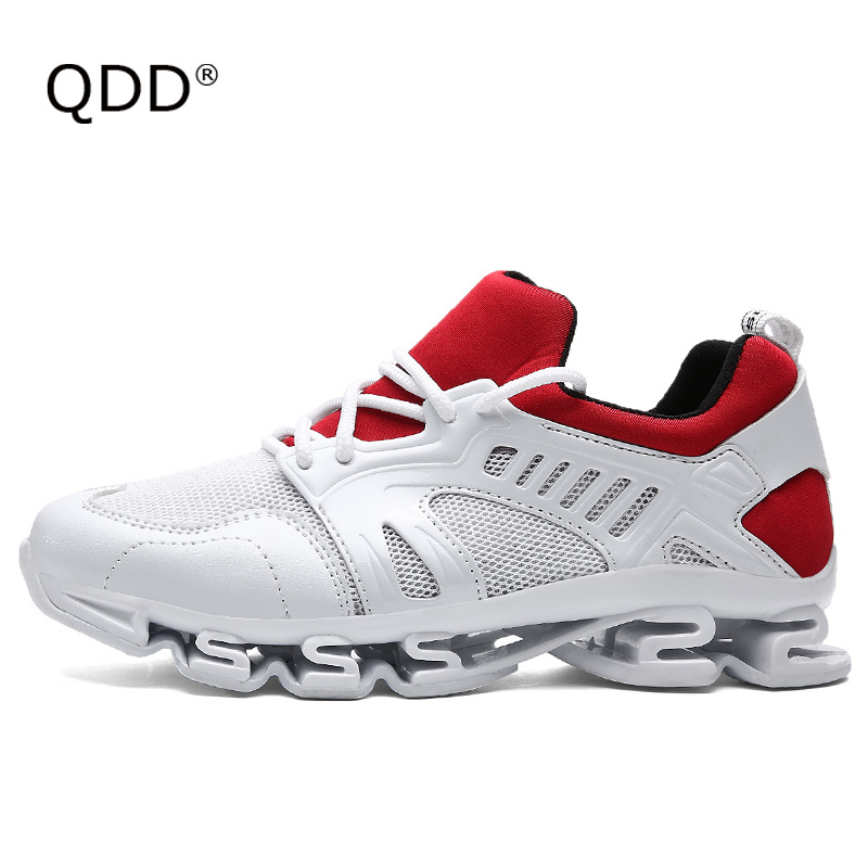 QDD Designation Blade Sole Tank Bottom Running Shoes, Premium Quality Does Not Lie! Breathable Comfortable Lovers Running Shoes.