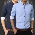 Mens Shirts Fashion 2015 Plus Size 5XL Men Dress Shirt Long Sleeve Cotton Oxford Shirt Fit Cheap Casual Men's Shirts Camisa