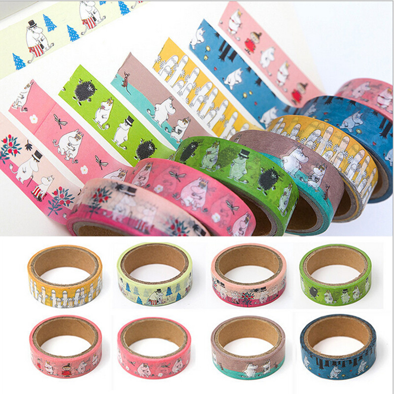 Moomin Muuminpeikko 2019 New Fashion Tape Sticker Toy Sticker Kid Muumi Cartoon Sticker Cute Finland Character Sticker Book
