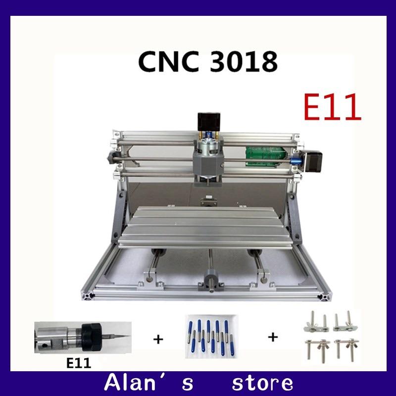 CNC DIY 3018 ER11 GRBL Control Mini CNC Machine Tools, PCB Milling Machine, Laser Engraving Machine Woodworking Router Best Toys