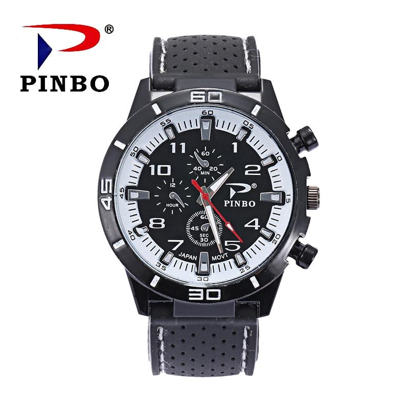 Zegarki Meskie 2017 Nový Luxusní značka PINBO Módní hodinky pro - Pánské hodinky