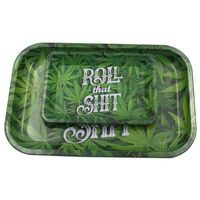 Tinplate Metal Tobacco Rolling Tray Storage Plate Discs For Smoke Bob Marley Weed Herb Grinder Cigarette Container Tray Ashtrays
