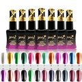 Metal Color Gel Nail Polish 30 seconds natural fast drying  New 24 Colors optional Easy soak off  No UV/LED