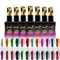 Metal Color de esmalte de uñas 30 segundos de secado rápido natural de nuevos 24 colores opcionales fácil empapa de UV / LED