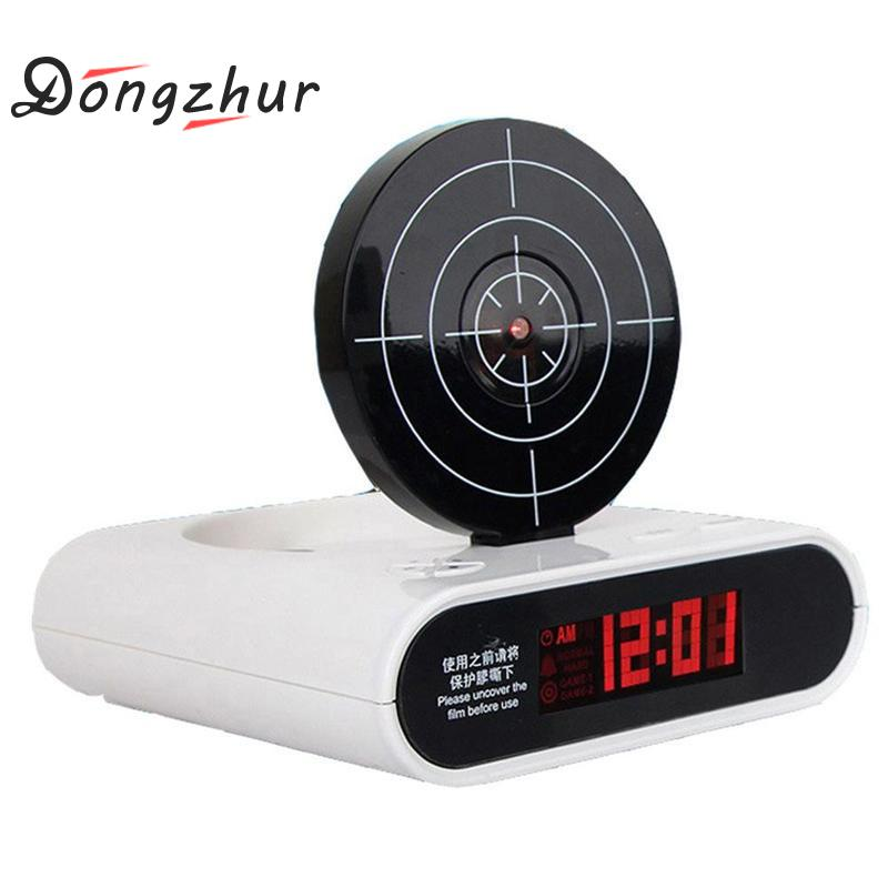 1 Set Creative Shooting Toy Lazy Person Wakes Up Alarm Clock Fashion Office Gadgets Plastic Funny 3 Colors Shoot Alarm Clock стоимость