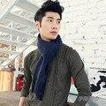 La marca de lujo hombres hijab de la borla de punto de algodón echarpe invierno sciarpa uomo de marca bufandas hombre invierno bufanda foulard hombres