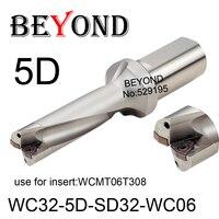 Más allá del WC 5D 32mm WC32-5D-SD32-WC06 U taladro uso de la broca inserto WCMT WCMT06T308 Indexable carburo insertos Torno CNC herramientas