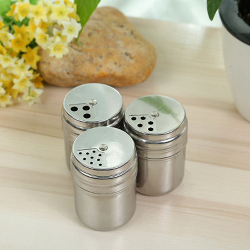 Camping Dispenser Box Salt /& Pepper Set Holder Shaker Spices Seasoning