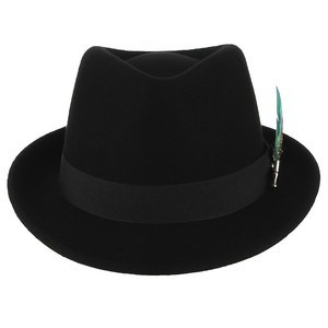 Image 3 - GEMVIE Men Women Trilby Feather Band Formal Fedora Hat Classical Curved Brim 100% Wool Jazz Hat Gentlemans Hat