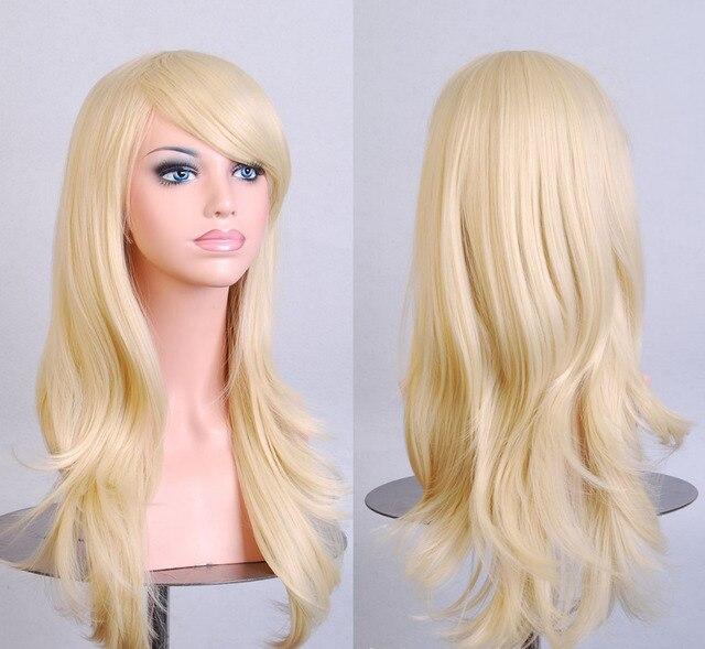 Стильный Вьющиеся Волосы pad Светло-Русый парик Cospaly 70 СМ Молодая длинные Синтетических Волос Perruque peluca плутон feminina Лолита