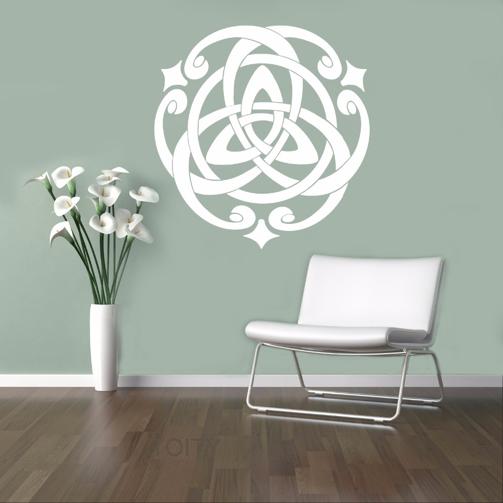 Celts Pattern Symbol Vinyl Sticker European Retro Ornament Wall Decal Home Interior Bedroom Decor Scandinavian Design Mural