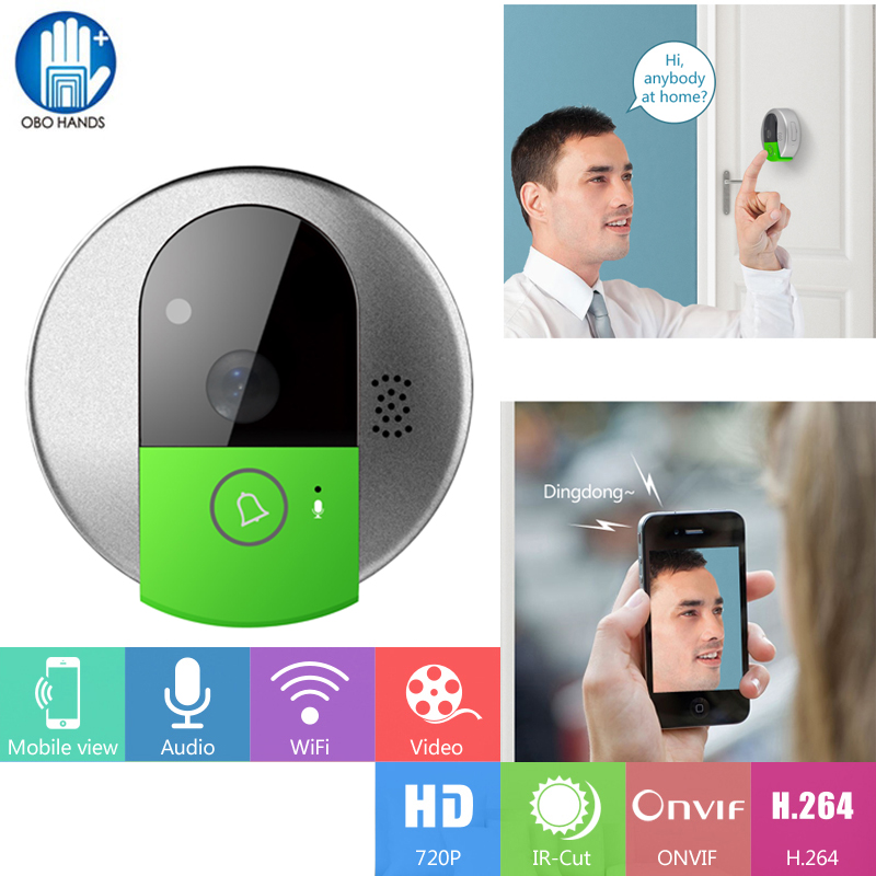 C95 Video Doorbell Camera HD 720P Wireless WiFi Security IP Two Way Audio  Doorcam Support IOS and Android Phone,IR Night Vision - Security CCTV Camera