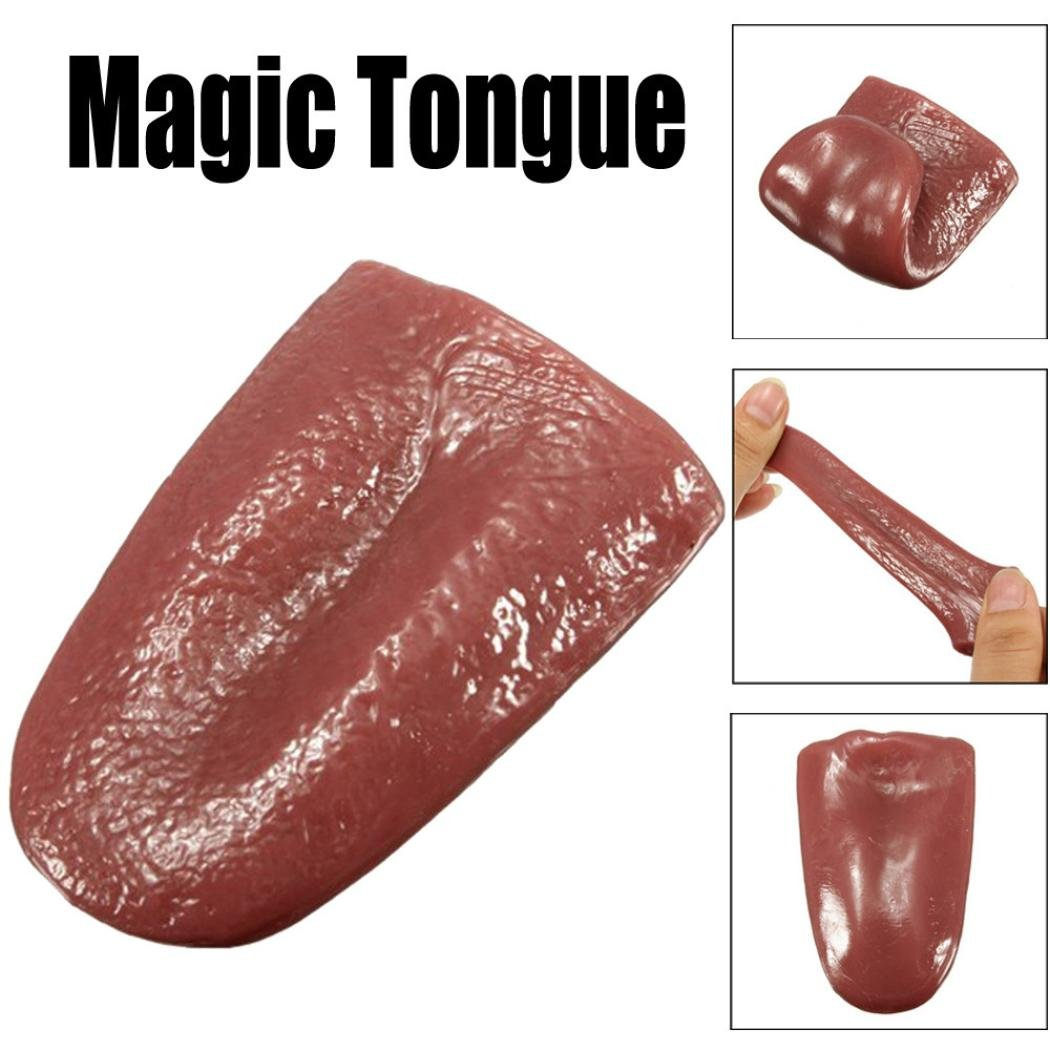 yooap Terrible tongue fake realistic elastic deceiving toy whole person props