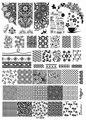 Nueva Moda de Acrílico Nail Art Stamping Stamping Plantilla Cordón de La Flor De Bambú Taza de Té de Esmalte de Clavo Que Estampa Las Placas XY-B06