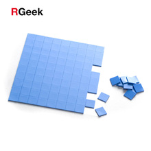 CPU Heatsink GPU Silicone-Pad Conductive Cooling Blue 100pcs 10mm--10mm--1mm