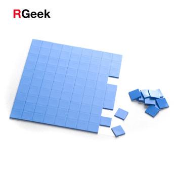 100 sztuk niebieski 10mm * 10mm * 1mm GPU CPU radiator chłodzenia przewodząca podkładka silikonowa podkładka termiczna tanie i dobre opinie RGeek Procesor 0 9 W Fluid Łożyska 30000 godzin Nie RPM Thermal Pad 20CFM none 4PIN SP101020